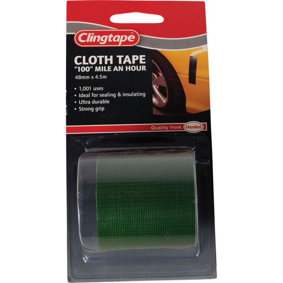 Cloth Tape - Green, 48mm x 4.5m, , scanz_hi-res