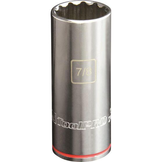 ToolPRO Single Socket - Deep, 1 / 2 inch Drive, 7 / 8 inch, , scanz_hi-res