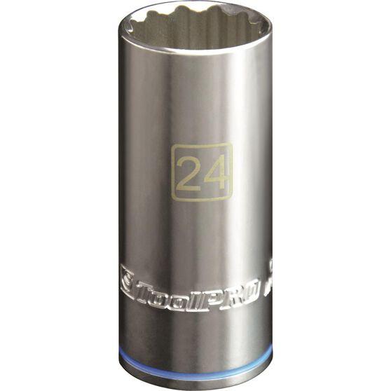 ToolPro Single Socket - Deep, 1 / 2 inch Drive, 24mm, , scanz_hi-res