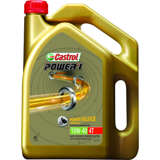Castrol Power 1 GPS Motorcycle Oil - 10W-40, 4 Litre, , scanz_hi-res