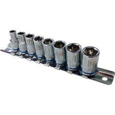 ToolPRO Socket Rail Set - 1 / 4 inch Drive, Metric, 8 Piece, , scanz_hi-res