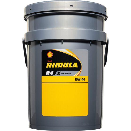 Shell Rimula R4X Diesel Engine Oil - 15W-40 20 Litre, , scanz_hi-res