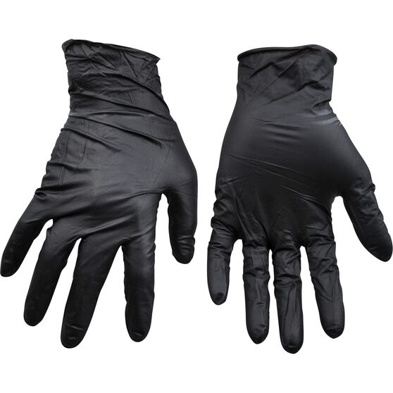 ToolPRO Nitrile Gloves - Black, One Size, , scanz_hi-res