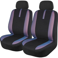SCA Mesh Seat Covers - Black Blue and Orange Adjustable Headrests Size 30 Front Pair Airbag Compatible, , scanz_hi-res