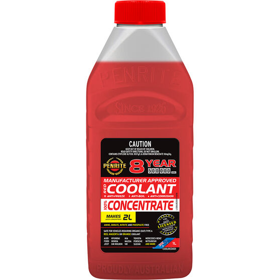 Penrite Red Long Life Anti Freeze / Anti Boil Concentrate Coolant - 1L, , scanz_hi-res