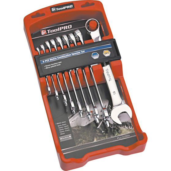 ToolPRO Spanner Set - Combination, 9 Piece, Metric, , scanz_hi-res