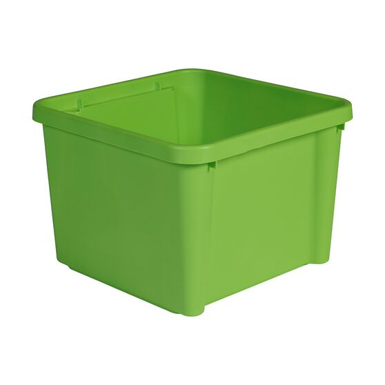 Plastic Storage Bin - Lime, 30 Litre, , scanz_hi-res