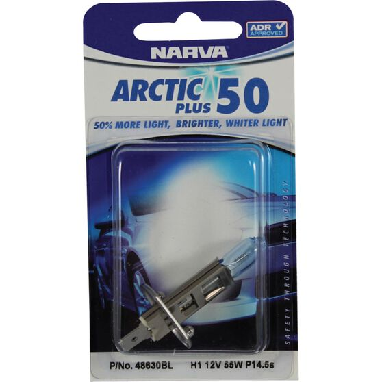 Narva Headlight Globe - Arctic Blue, H1, 12V, 55W, , scanz_hi-res