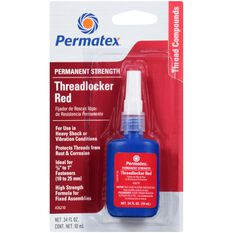 Permatex Threadlocker - Permanent Strength, Red, 10mL, , scanz_hi-res