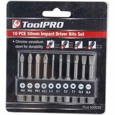 ToolPRO Impact Driver Bit Set - 50mm, 10 Pieces, , scanz_hi-res