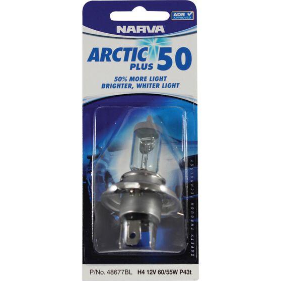 Narva Headlight Globe - Arctic Plus 50, H4, 12V, 60/55W, , scanz_hi-res