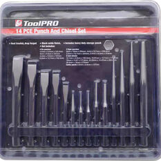 ToolPRO Punch & Chisel Set - 14 Piece, , scanz_hi-res
