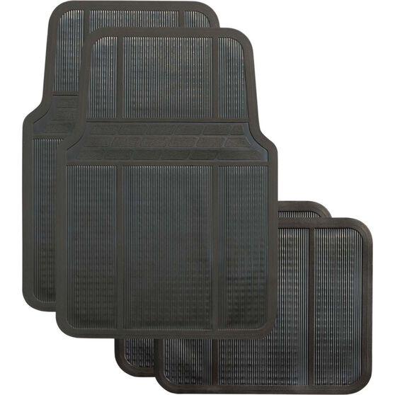 Best Buy Car Floor Mat - Rubber, Black, Set of 4, , scanz_hi-res