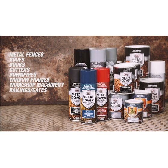 SCA Metal Cover Enamel Rust Paint Gloss White 500mL, , scanz_hi-res