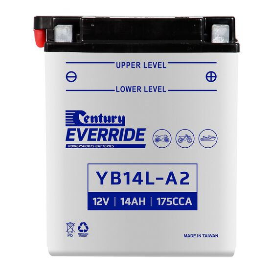 Century Powersports Battery YB14L-A2, , scanz_hi-res