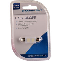 Enduralight Interior Globe 36MM Festoon LED White, , scanz_hi-res