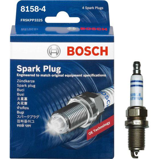 Bosch Spark Plug - 8158-4, 4 Pack, , scanz_hi-res
