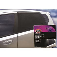 SCA Side Window Shade - Large Curved, Black, , scanz_hi-res