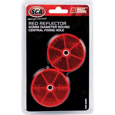 SCA Reflector - Red, 60mm, Round, 2 Pack, , scanz_hi-res
