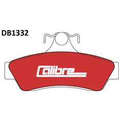 Calibre Disc Brake Pads DB1332CAL, , scanz_hi-res