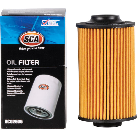 SCA Oil Filter - SCO2605 (Interchangeable with R2605P), , scanz_hi-res