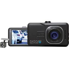 NanoCam Plus 3-In-1 Front & Rear Dash Cam with Reversing Camera - NCP-DVRT1, , scanz_hi-res