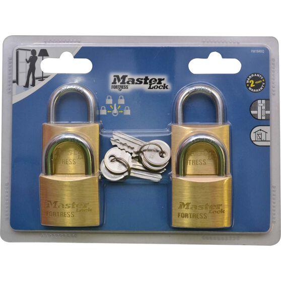 Master Lock Fortress Padlock - 40mm, 4 Pack, , scanz_hi-res