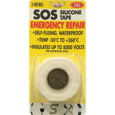 DynaGrip SOS Silicone Tape - White, 3m x 25mm, , scanz_hi-res