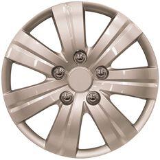 Wheel Covers - Kansai, 14, Silver, 4 Piece, , scanz_hi-res