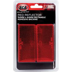 SCA Reflector - Red, 94 x 44mm, Rectangle, 2 Pack, , scanz_hi-res