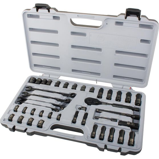 Stanley Socket Set - 1 / 4 inch and 3 / 8 inch Drive, Metric, 40 Piece, , scanz_hi-res