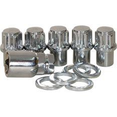 Wheel Nuts, Shank Lock, Chrome - 1/2, , scanz_hi-res
