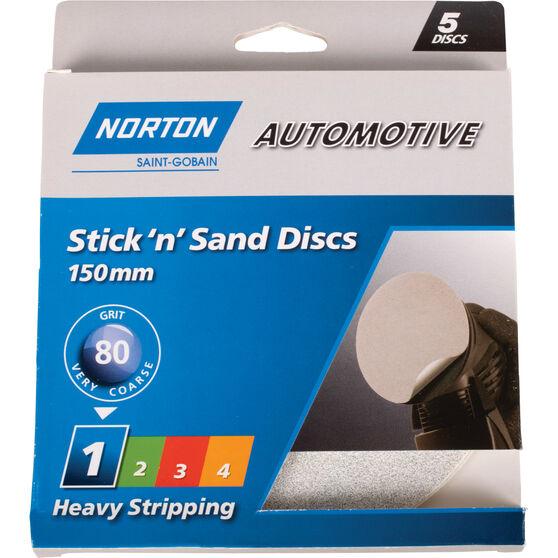 Norton Sticky Disc - 80 Grit, 5 Pack, , scanz_hi-res