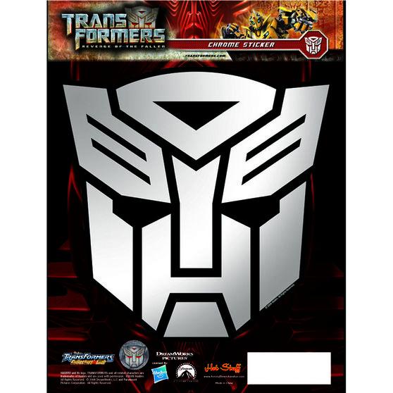 Hot Stuff Sticker - Transformers Autobots, Chrome, , scanz_hi-res
