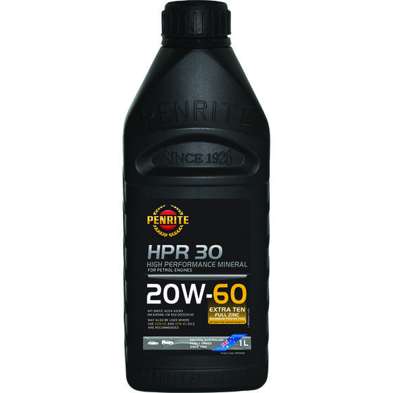 Penrite HPR 30 Engine Oil - 20W-60, 1 Litre, , scanz_hi-res