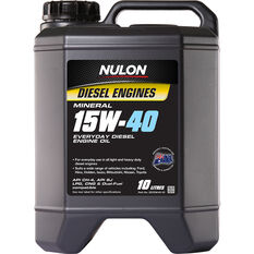 Nulon Premium Mineral Everyday Diesel Engine Oil 15W-40 10 Litre, , scanz_hi-res