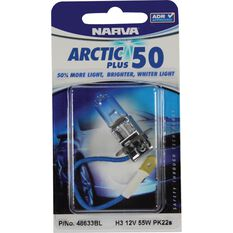 Narva Headlight Globe - Arctic Plus 50, H3, 12V, 55W, , scanz_hi-res