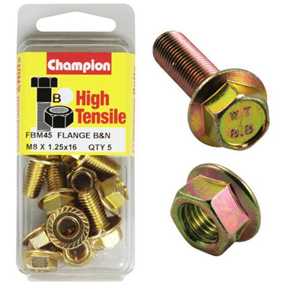 Flange Bolts - M8x16, High Tensile, , scanz_hi-res