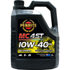 Penrite MC-4ST Full Synthetic Motorcycle Oil 10W-40 4 Litre, , scanz_hi-res
