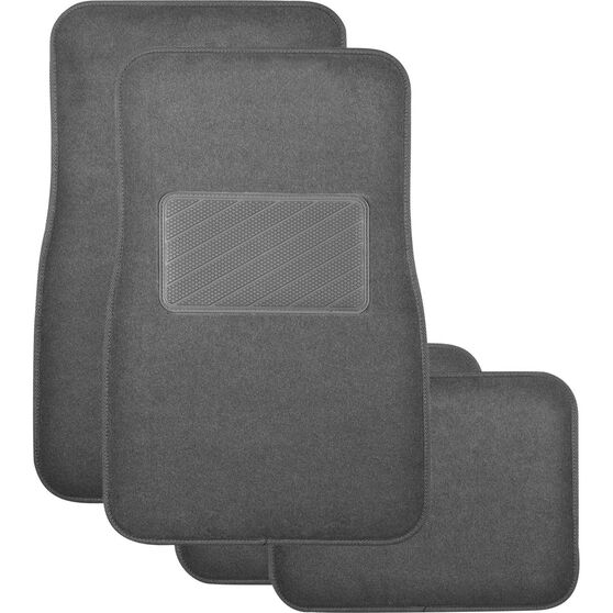SCA Premier Plus Floor Mats - Carpet, Charcoal, Set of 4, , scanz_hi-res