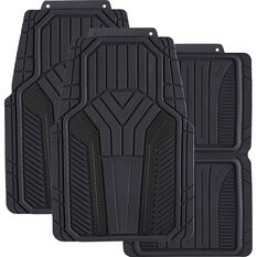 SCA Carbon Fibre Car Floor Mats - Black Set of 4, , scanz_hi-res