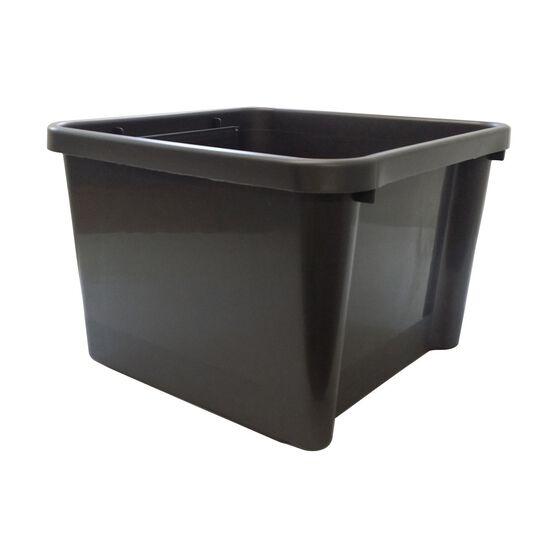 Plastic Storage Bin - Charcoal, 30 Litre, , scanz_hi-res