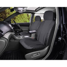 SCA Leather Look & Black Lace Seat Covers - Black, Adjustable Headrets, Airbag Compatible, , scanz_hi-res