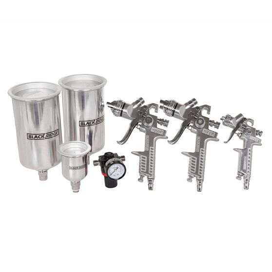 Blackridge Air Spray Gun Kit, HVLP - 4 Piece