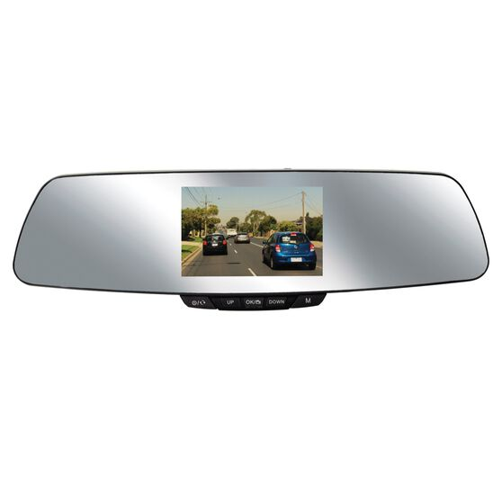 NanoCam Plus 1080p HD Mirror Mounted Dash Cam With 720p Rear Recording Camera - NCP-MIRDVRHD2, , scanz_hi-res