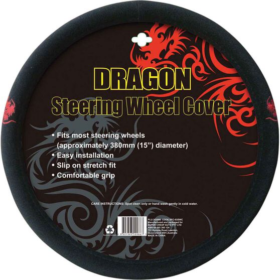 Steering Wheel Cover - Brushed Polyester, Red, 380mm diameter, , scanz_hi-res