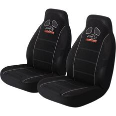 Performance Racing Seat Covers - Black, Built-in Headrests, Size 60, Front Pair, Airbag Compatible, , scanz_hi-res