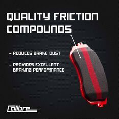 Calibre Disc Brake Pads - DB1818CAL, , scanz_hi-res