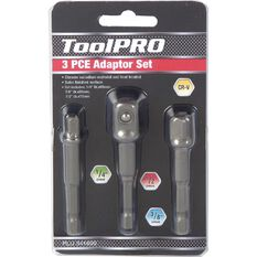 "ToolPRO Drill Adaptor Set 1/4"" 3/8"" & 1/2"" 3 Piece, , scanz_hi-res"