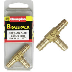 Champion T Pieces - 5 / 16inch, Brass, , scanz_hi-res